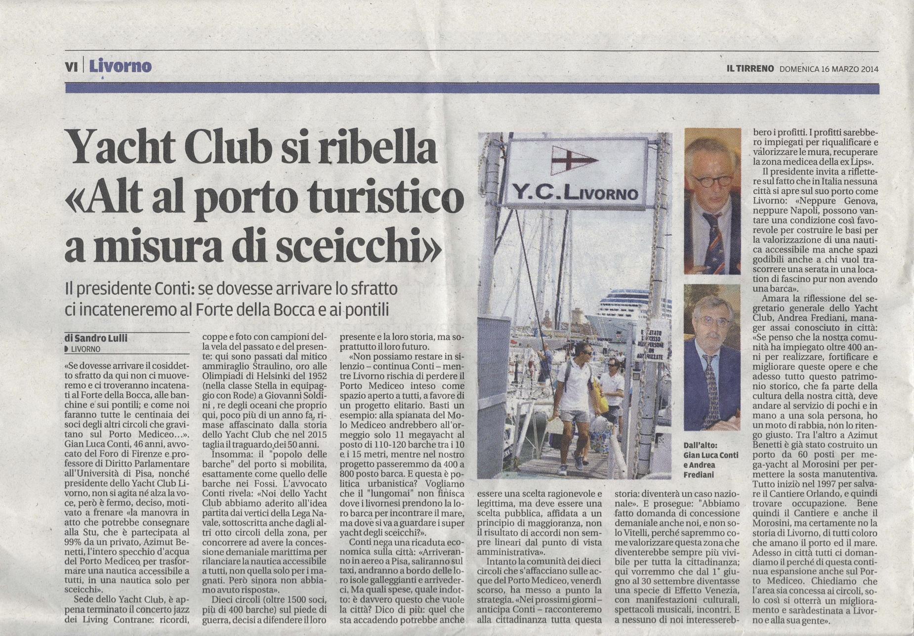 Articolo Tirreno 16 3 2014